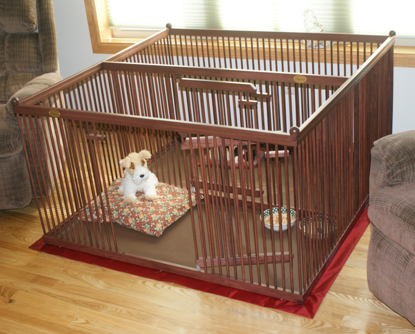 The Best Wooden Dog Crates Pupperton 4 X 4 Double